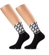 ASSOS MONOGRAM SOCKS WHITE/BLACK